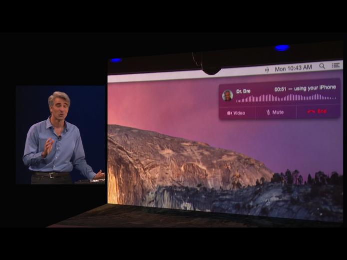 Com novo iOS 8 e Mac OS X Yosemite, usuários poderão fazer ligações sem tocar no iPhone (Foto: Divulgação/Apple)