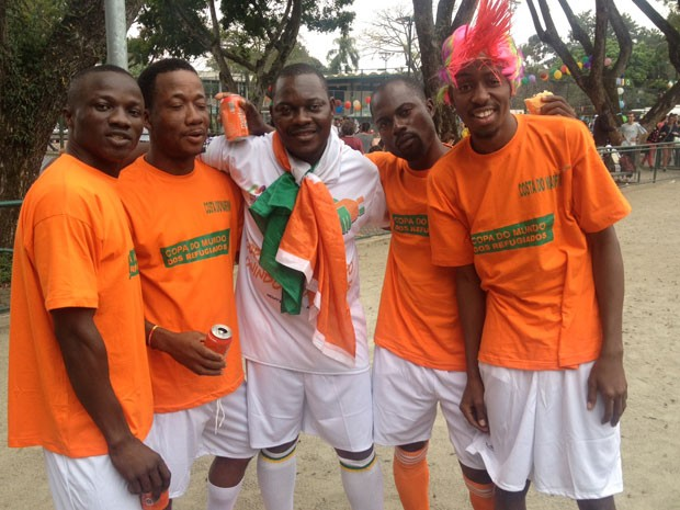 Time da Costa do Marfim (Foto: Flavia Mantovani/G1)