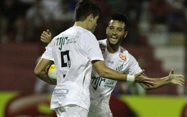 Jogadores gol Santos (Foto: José Luis Silva / Ag. Estado)