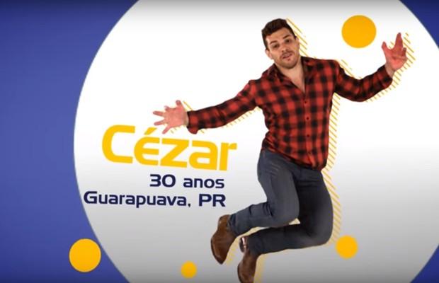 Cézar, do BBB15 (Foto: Reprodução / Tv Globo)
