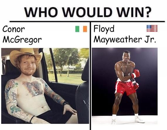 Internautas lançam a pergunta: quem vocês pensam que venceria a luta? (Foto: Reprodução/Twitter)