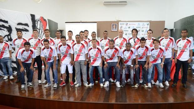 Apresentação do River Plate-SE (Foto: João Áquila, GLOBOESPORTE.COM)