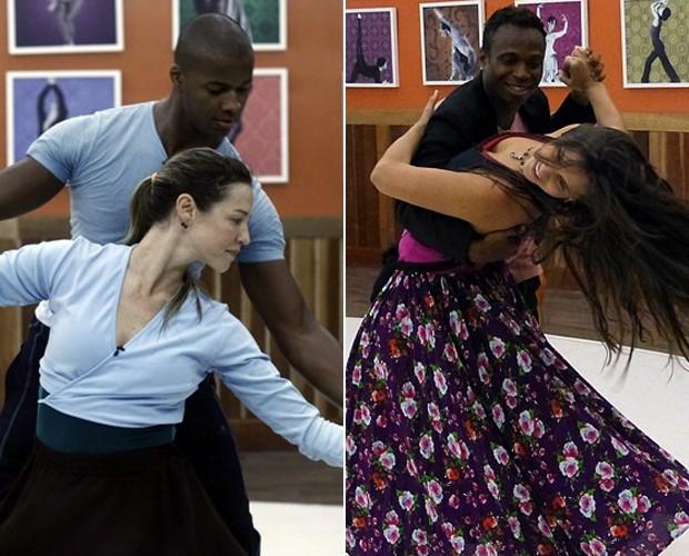 Luana e Edílson contam suas expectativas para a repescagem (Foto: Domingão do Faustão / TV Globo)