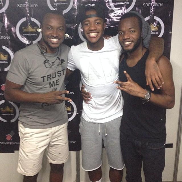 Victor Andrade, Thiaguinho e Barriga  (Foto: Reprodução  / Instagram)