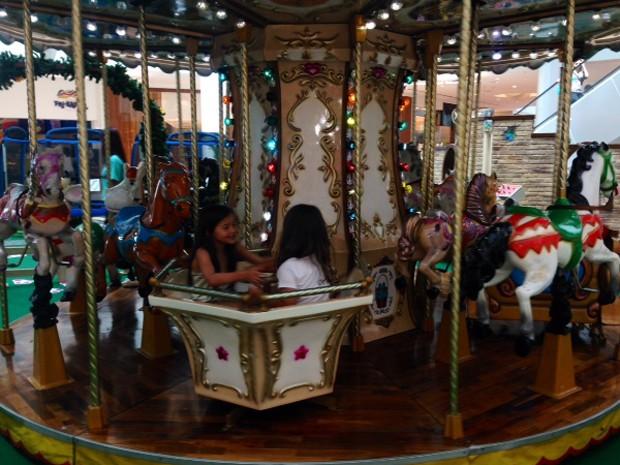 No Shopping RioMar, 'Parque da Páscoa' conta com carrossel e outras atrações. (Foto: Divulgação)