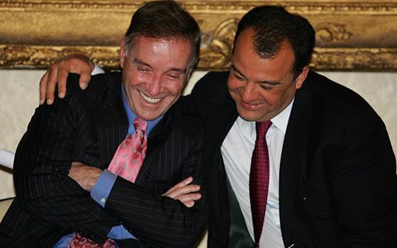 Eike Batista e Sérgio Cabral  (Foto: Agência O Globo )