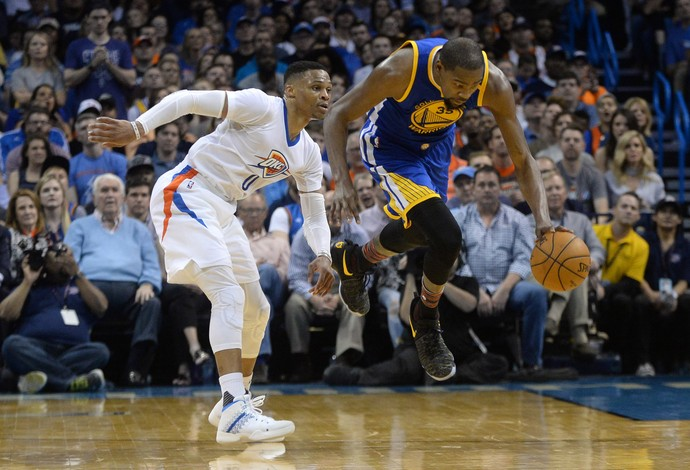 Golden State Warriors x Okhaloma City Thunder Kevin Durant Russel Westbrook (Foto: Reuters)