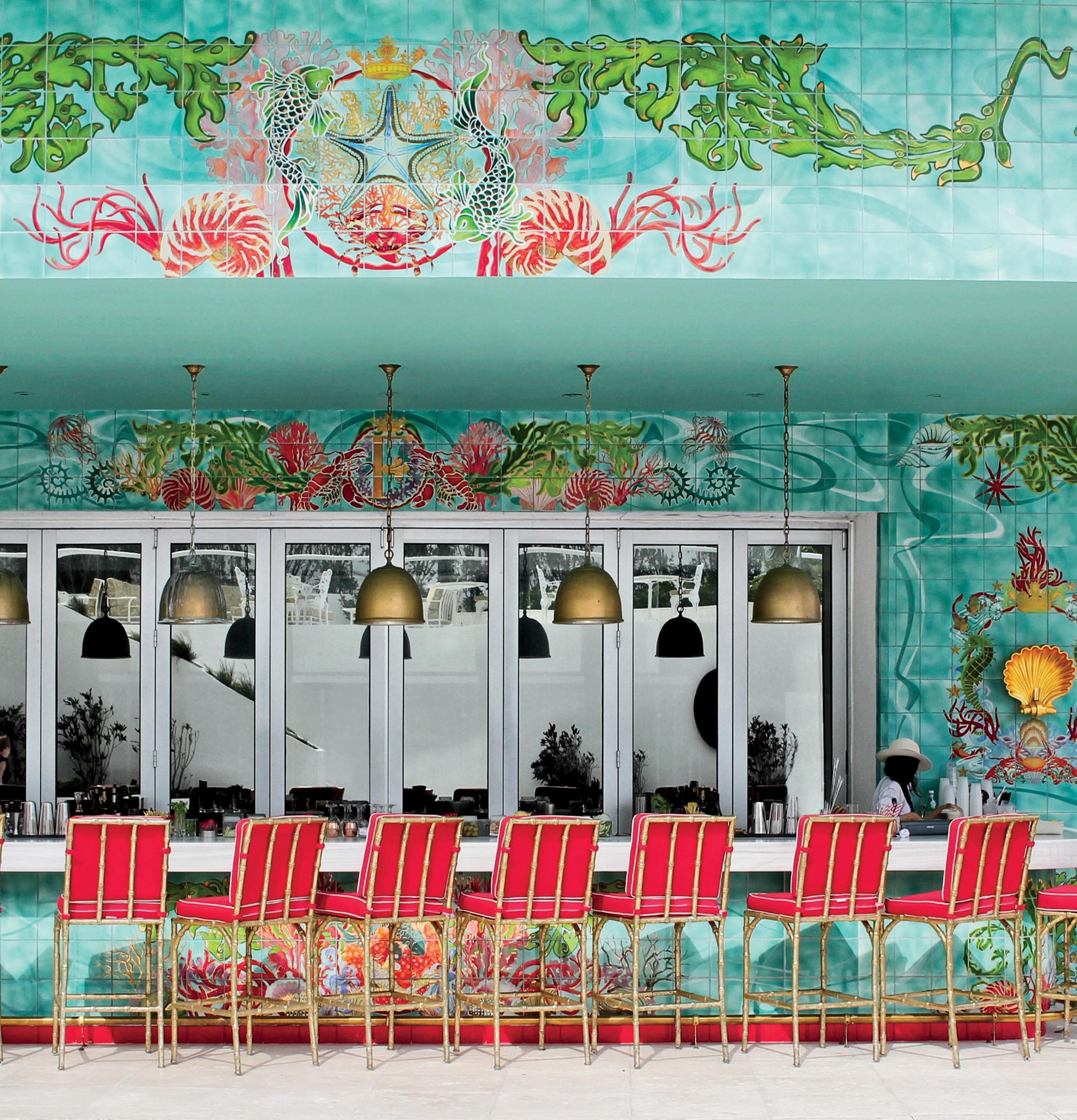 Bar do Los Fuegos, novo restaurante do hotel Faena comandado pelo top chef argentino Francis Mallmann (Foto: Divulgação, Talbot Lindsay e Eric Wolfinger)