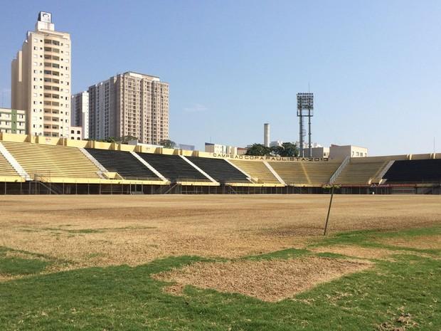 Estádio 1º de Maio, em São Bernardo do Campo, foi palco da greve de 1979 (Foto: Glauco Araújo/G1)