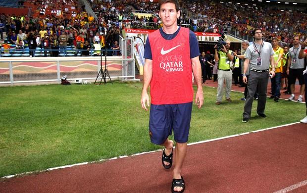 Messi Barcelona e Combinado da malásia  (Foto: Agência AP)