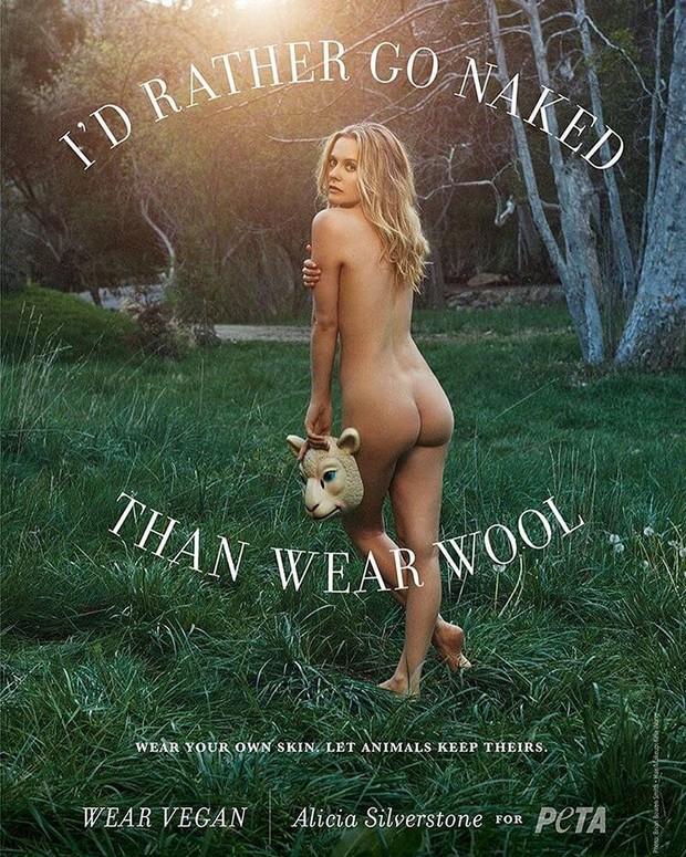 Alicia Silverstone posa nua para campanha a favor dos animais (Foto: Reprodução/Instagram)