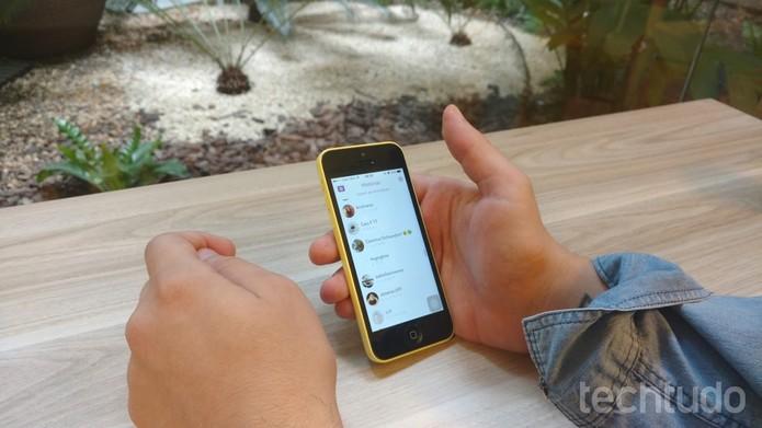 Snapchat (Foto: Luana Marfim/TechTudo)