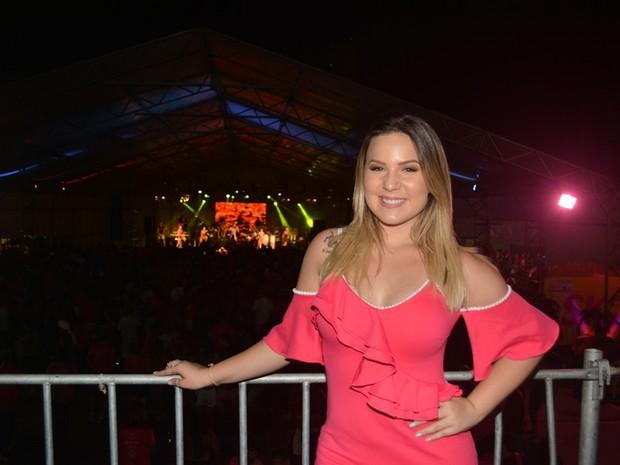 Ex-BBB Maria Claudia, a Cacau, em micareta em Natal (Foto: Felipe Souto Maior/ Ag. News)