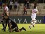 Revelado no Palmeiras, Kauê celebra contra SP 1º gol como profissional