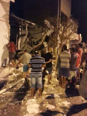 Explosáo em Quijingue na Bahia (Foto: Divulgação/Polícia Civil)