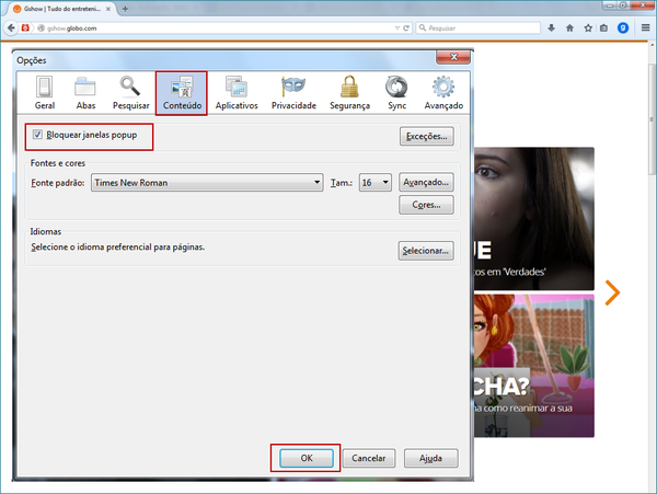 Desbloquear pop-up no Mozilla Firefox (Foto: 02)