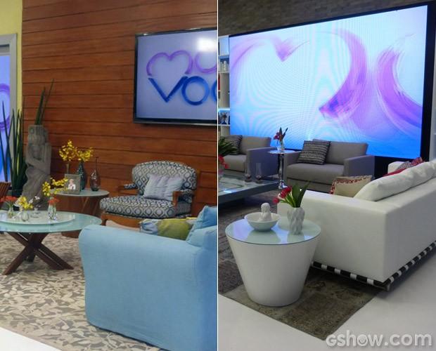 Antes e depois da Casa de Cristal (Foto: Mais Você / TV Globo)
