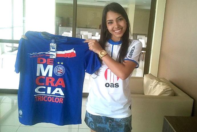 Isabella Costa torcedora sócia do Bahia (Foto: Divulgação)