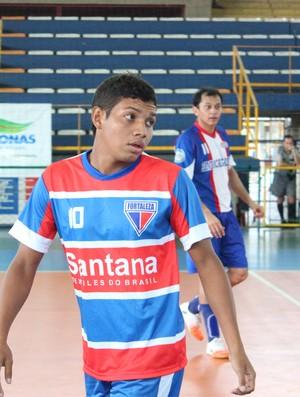 Lacraia jogando pela equipe do Fortaleza na Copa TV Amazonas de Futsal 1 =13-05-2012 (Foto: Anderson Silva/GLOBOESPORTE.COM)