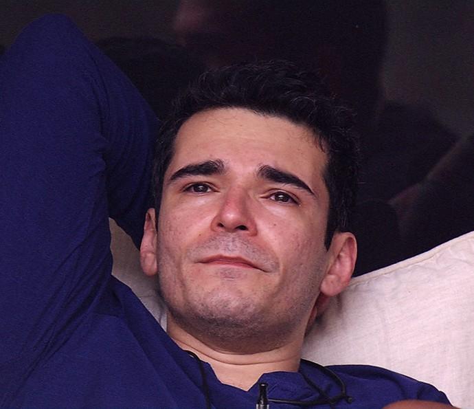 Alan emparedado chorando Dia na casa 25_1 (Foto: TV Globo)