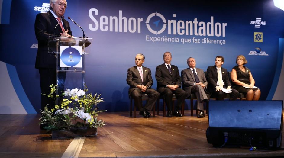 Guilherme Afif Domingos, presidente do Sebrae, durante cerimônia de abertura do Senhor Orientador (Foto: Divulgação)