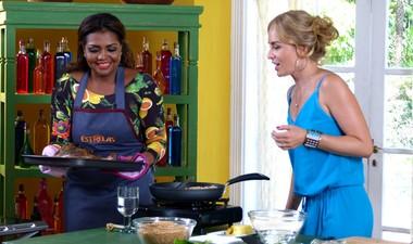 Gaby Amarantos prepara prato típico do Pará para Angélica (Estrelas / TV Globo)