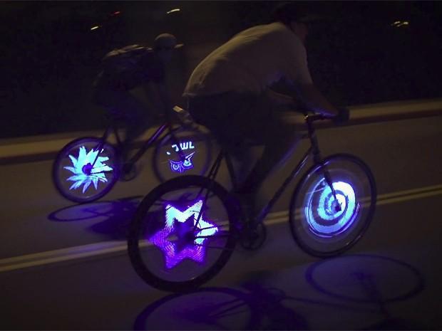 Existem versões do sistema de imagens em rodas de bicicleta (Foto: Divulgação)