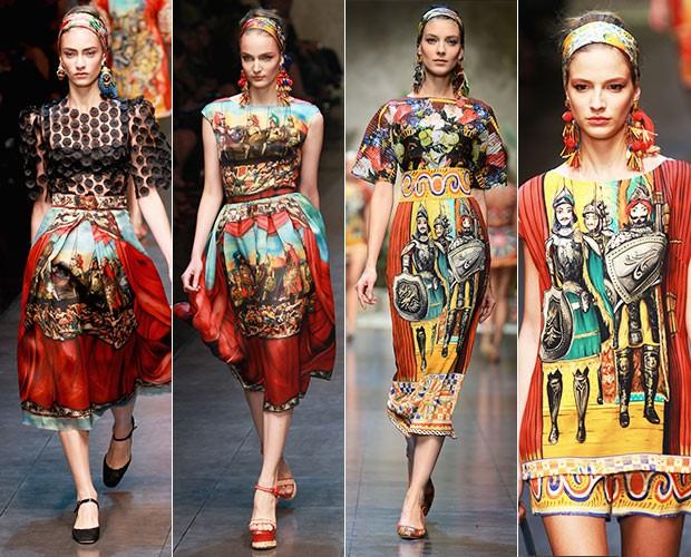 Desfile Dolce e Gabbana (Foto: Agência Getty Images)