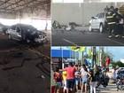 Pessoa é ferida em explosão de carro dentro de supermercado em Natal