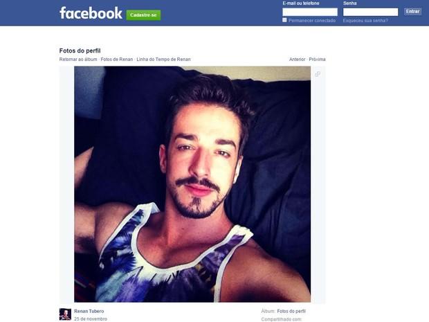 Renan Túbero, de São Simão, em foto do perfil no Facebook (Foto: Reprodução/Facebook)
