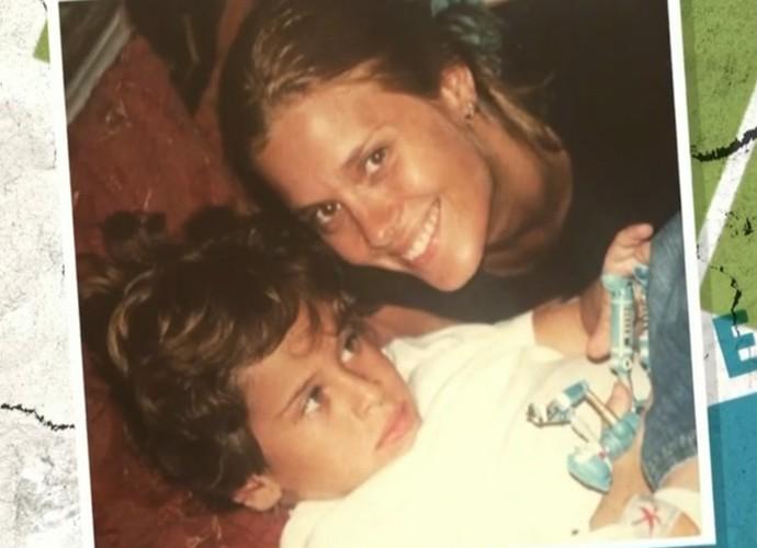 Carolina Dieckmann mostra foto antiga com o primogênito Davi (Foto: Vídeo Show / TV Globo)