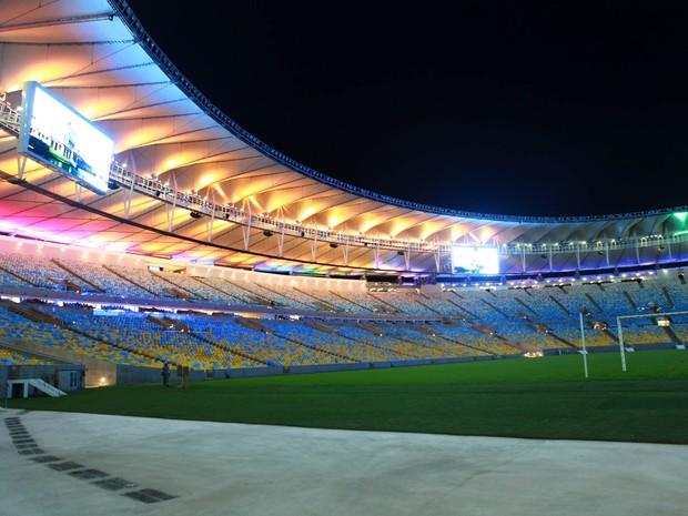 Maracanã com nova iluminação  (Foto: Divulgação/Érica Ramalho)