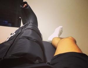 Leandro Damião atacante Santos tratamento (Foto: Reprodução / Instagram)