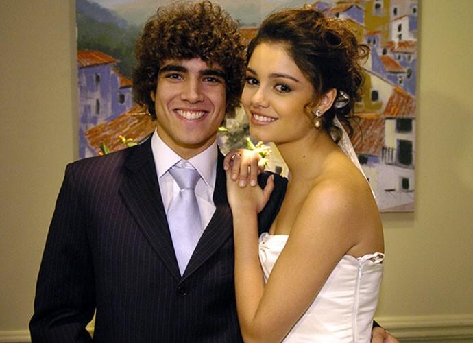 Que casal lindo! Caio Castro e Sophie casaram na temporada de 2009 de Malhação (Foto: TV Globo)