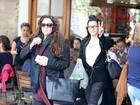 Leticia Lima e Ana Carolina almoçam juntas no Rio