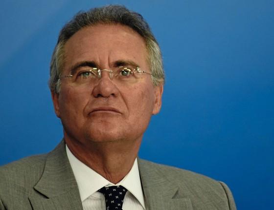 Renan Calheiros,presidente do Senado (Foto:   Mateus Bonomi/AGIF/Folhapress)