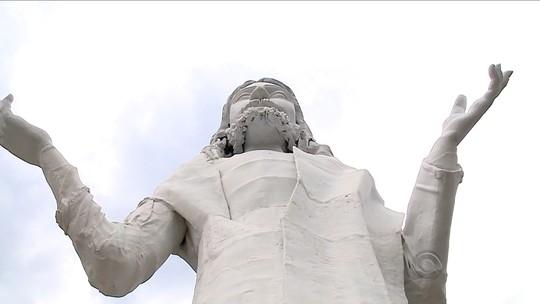 Cidade de SC investe em turismo religioso com imagem de Cristo
