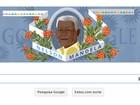 Nelson Mandela é homenageado em página de buscas do Google