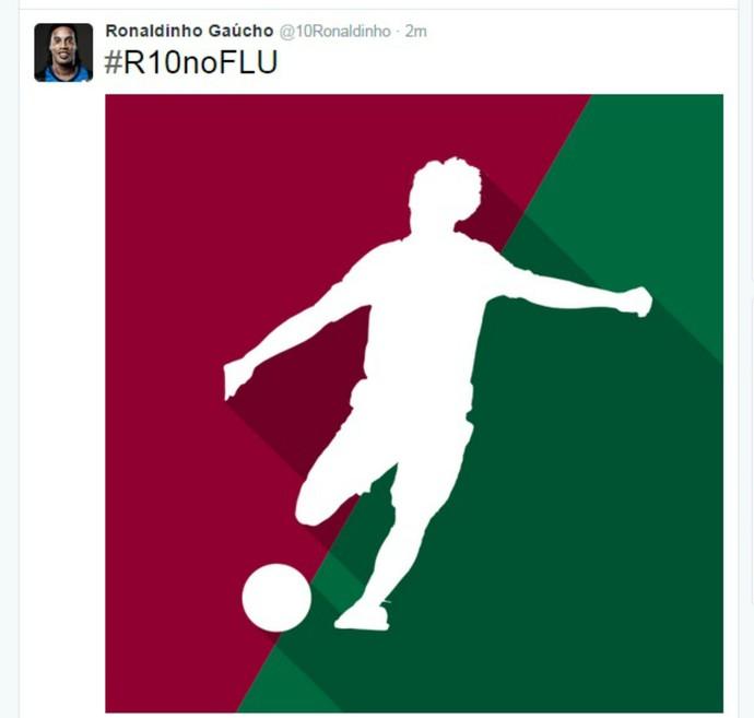 Twitter Ronaldinho Gaúcho no Fluminense (Foto: Reprodução)