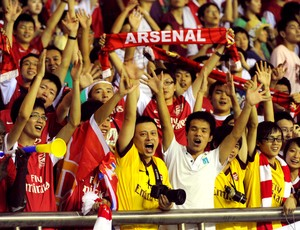 Torcida Arsenal China (Foto: AFP)