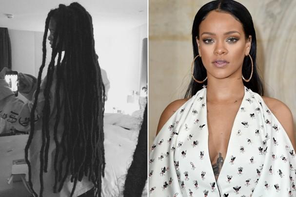 Dreads ou liso? Como você prefere o cabelo da Rihanna? (Foto: Reprodução/Instagram/Getty Images)
