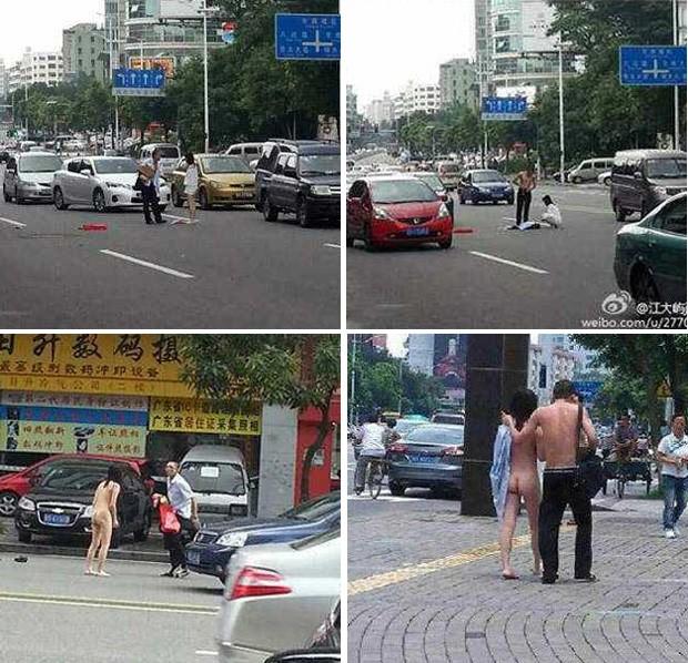 Ap�s a briga, que deixou dupla sem roupas, ambos fizeram as pazes e voltaram juntos (Foto: Reprodu��o/Weibo/Jiang Lantau)