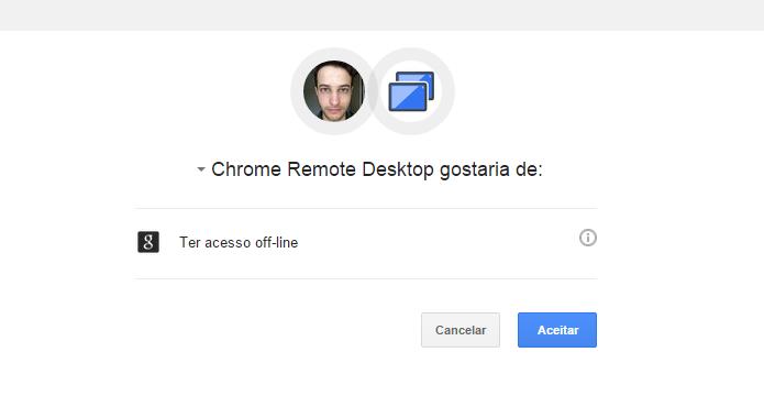 Permite que o aplicativo acesse o seu computador (Foto: Reprodução/Helito Bijora)