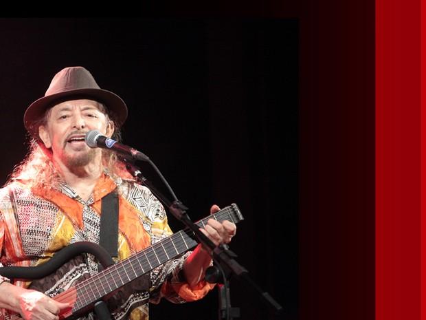 palco - Geraldo Azevedo (Foto: globonews)