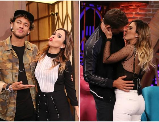 Neymar e Cauã, em que Tatá deu um selinho, são os dois primeiros convidados da nova temporada de Lady Nigh (Foto: Gshow)