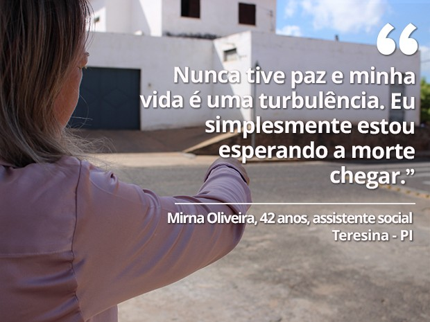 Mulher é vítima de agressões e ameaças há mais de 20 anos  (Foto: Fernando Brito/G1)
