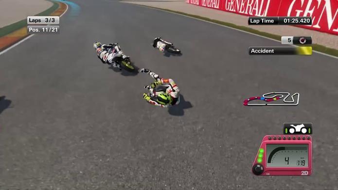 MotoGP 14 é implacável com novatos (Foto: Reprodução / Dario Coutinho)