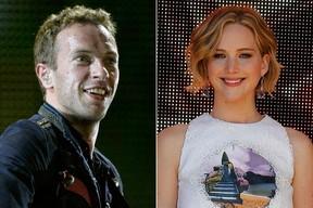 Chris Martin e Jennifer Lawrence (Foto: Reuters)