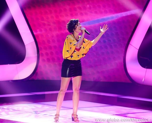 Claire Nativel na quarta Audição às Cegas (Foto: Isabella Pinheiro/TV Globo)
