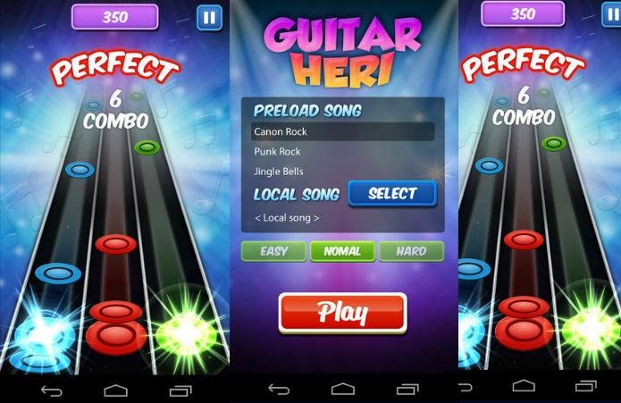 Guitar Heri: Nome e jogabilidade similares ao Guitar Hero (Foto: Divulgação)